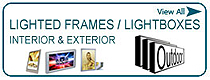 Lighted Frames & Lightboxes